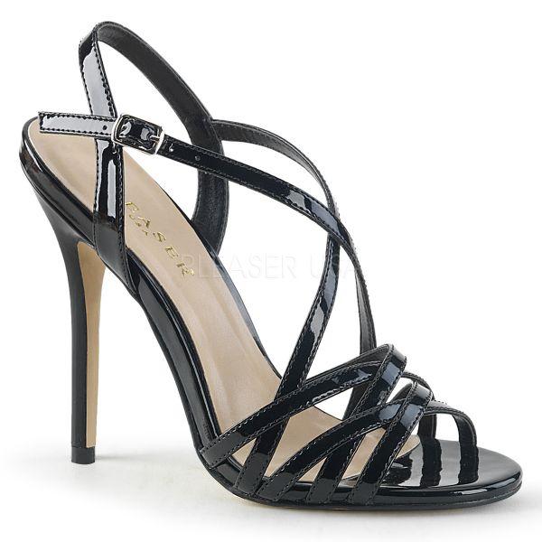 High Heel Sandalette schwarz Lack AMUSE-13